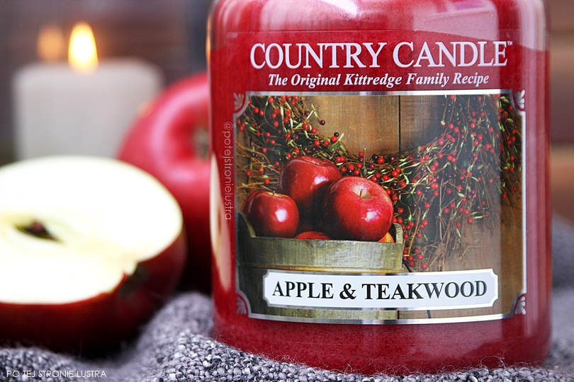 etykieta apple & teakwood country candle