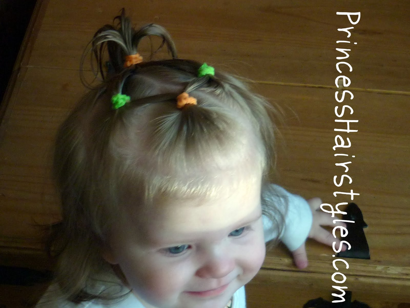 Baby Hairstyles 4 Connecting Ponytails