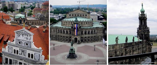 Dresden vista do alto da Torre Hausmann