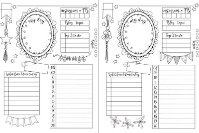 Bullet Journal template- engelsk pdf