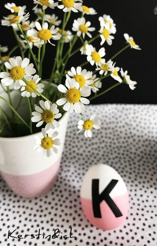 Buchstabeneier, Letter Eggs, Ostern Ostereier, Buchstaben, Deko Kamille