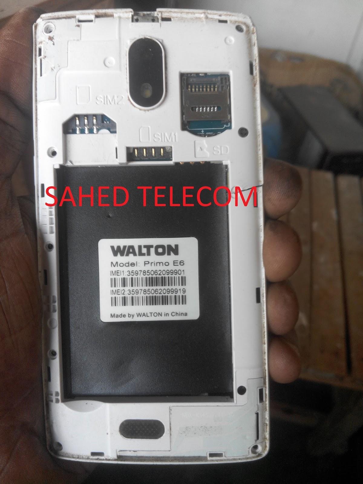 SAHED TELECOM: walton E6 flash file PAC FILE 5 1 SPD7731 100