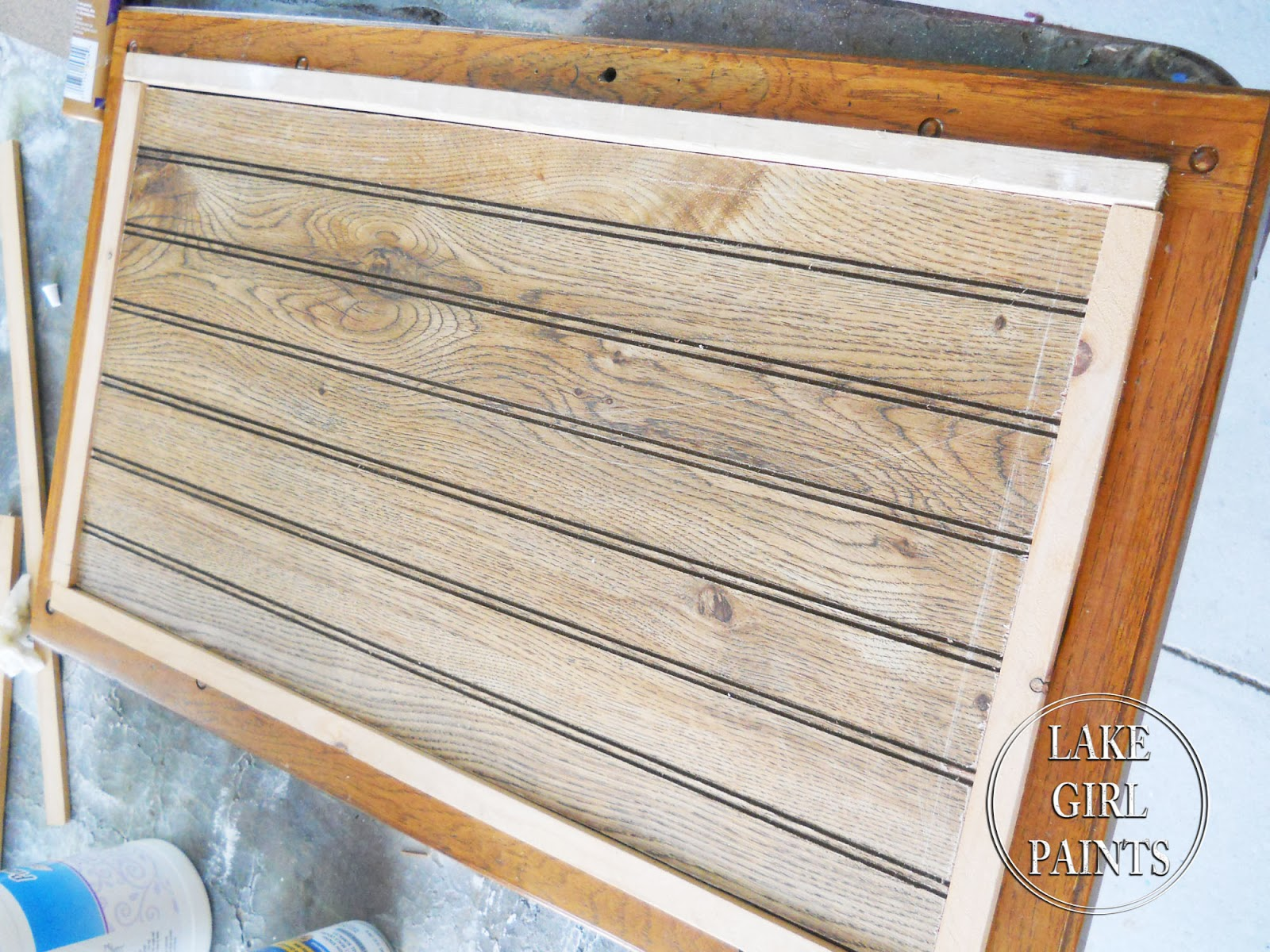 Lake Girl Paints Old Entertainment Center Gets Beadboard