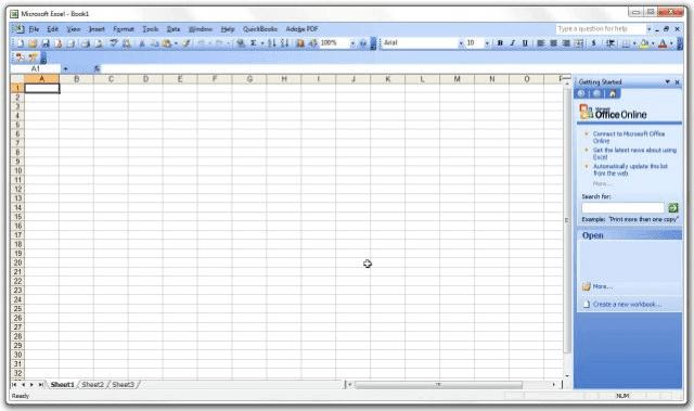 Microsoft Excel 2003 (v11.0)