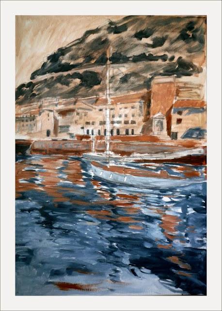 Acrilico puerto viejo de San Sebastian