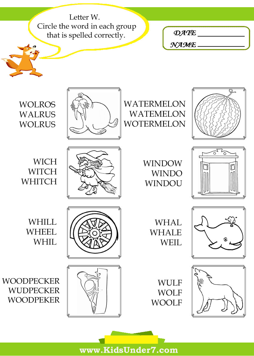 Free words begin with w coloring pages