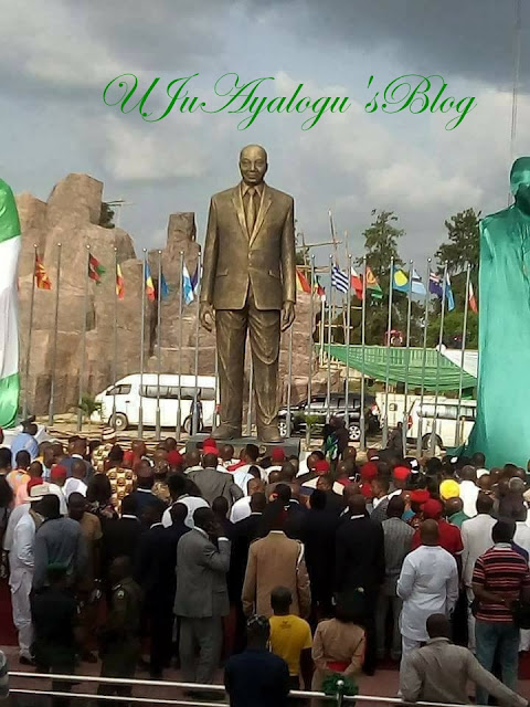 Governor Rochas Erects Humongous Statue of Jacob Zuma in Owerri (Photos)