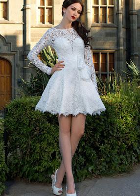 Vestidos de Novia Cortos con Encajes