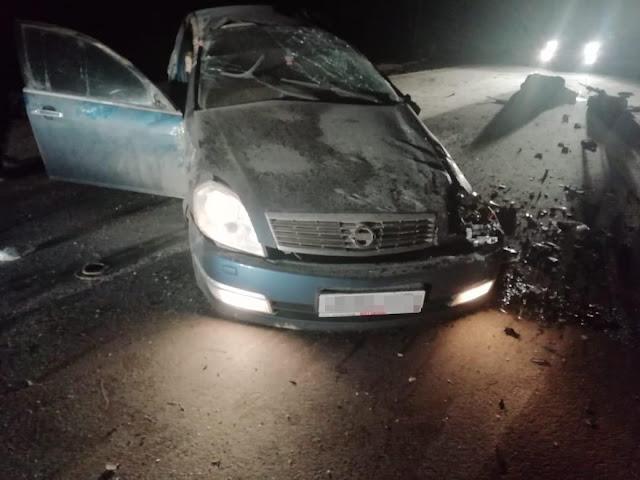 В Башкирии Ниссан Теана опрокинулась в кювет: погиб водитель