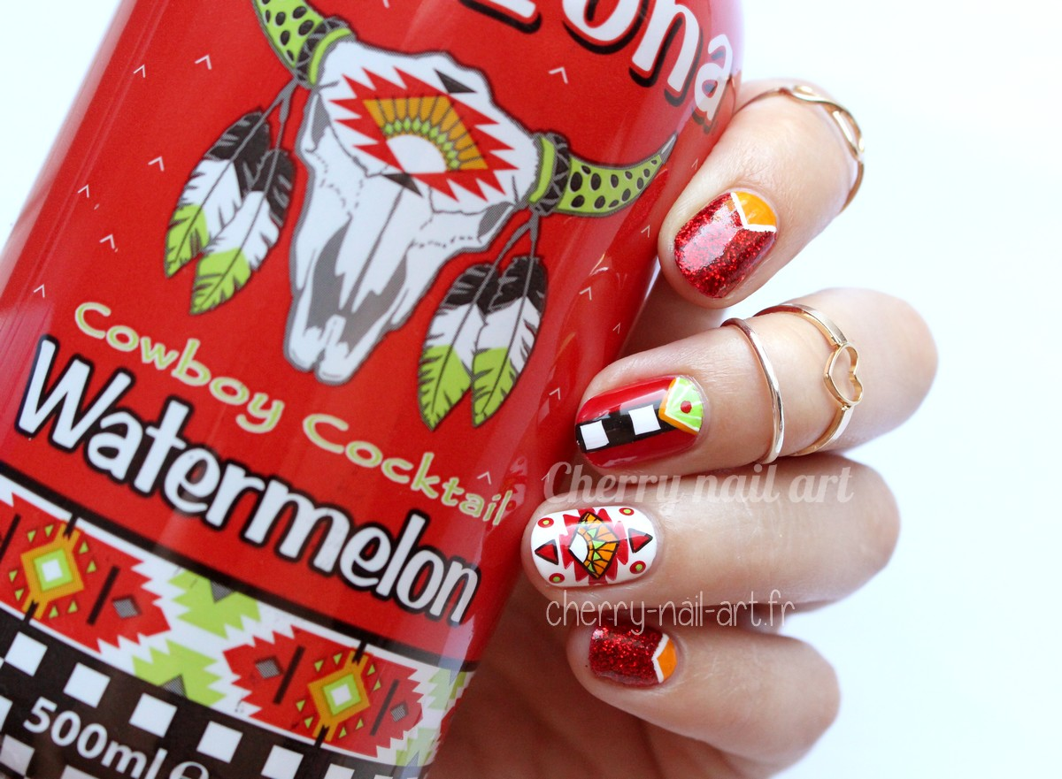 nail-art-arizona-watermelon-paillettes