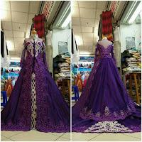baju kebaya pengantin ungu