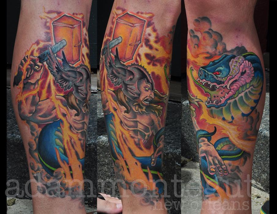 Top Jormungandr Thor Vs Images for Pinterest Tattoos