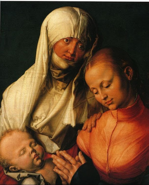 Alberto Durero - Santa Ana, la Virgen y el niño - 1519