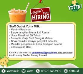 Lowongan Kerja Staff Outlet Yotta Milk