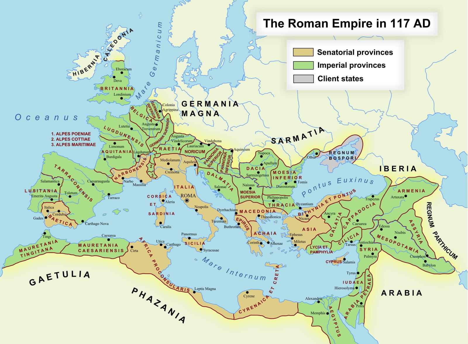 Cartina Spagna Romana.Le Province Romane Romanoimpero Com