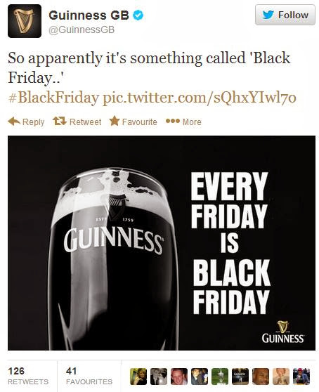 Guinness Black Friday tweet