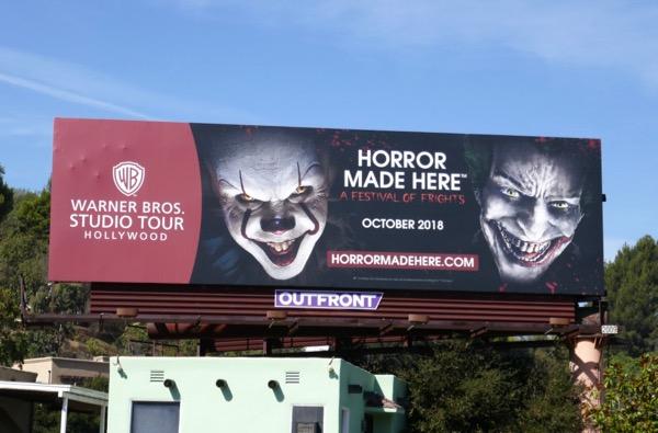WB Studio Tour Horror Festival Frights billboard
