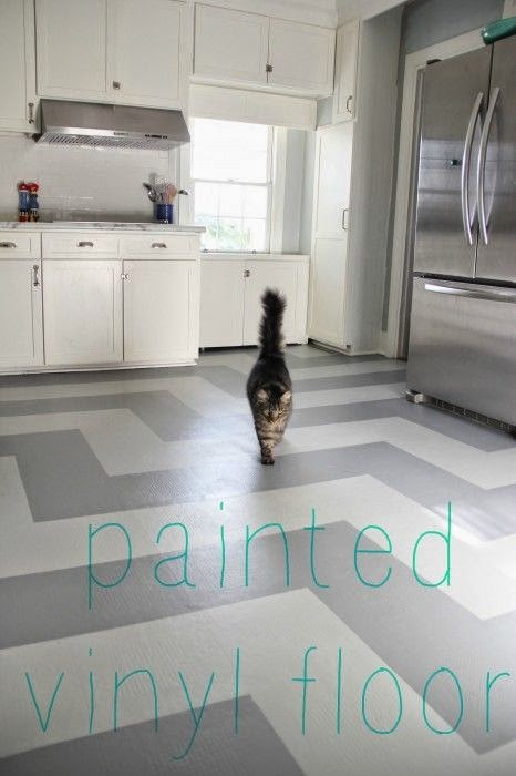 Style By Lori May How To Paint Vinyl Floors