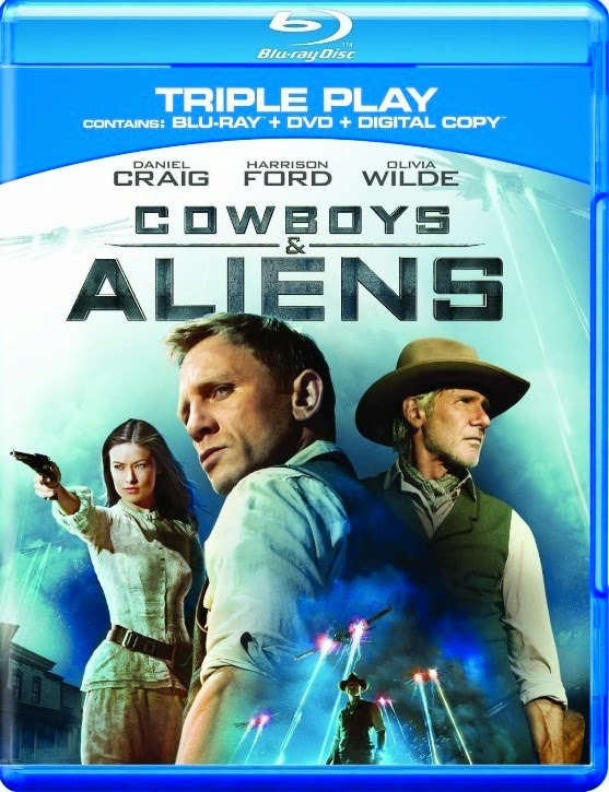 Cowboys & aliens trailer starring daniel craig and harrison ford.
