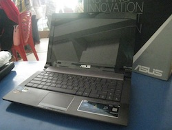 jual laptop bekas asus n43s core i3 2nd