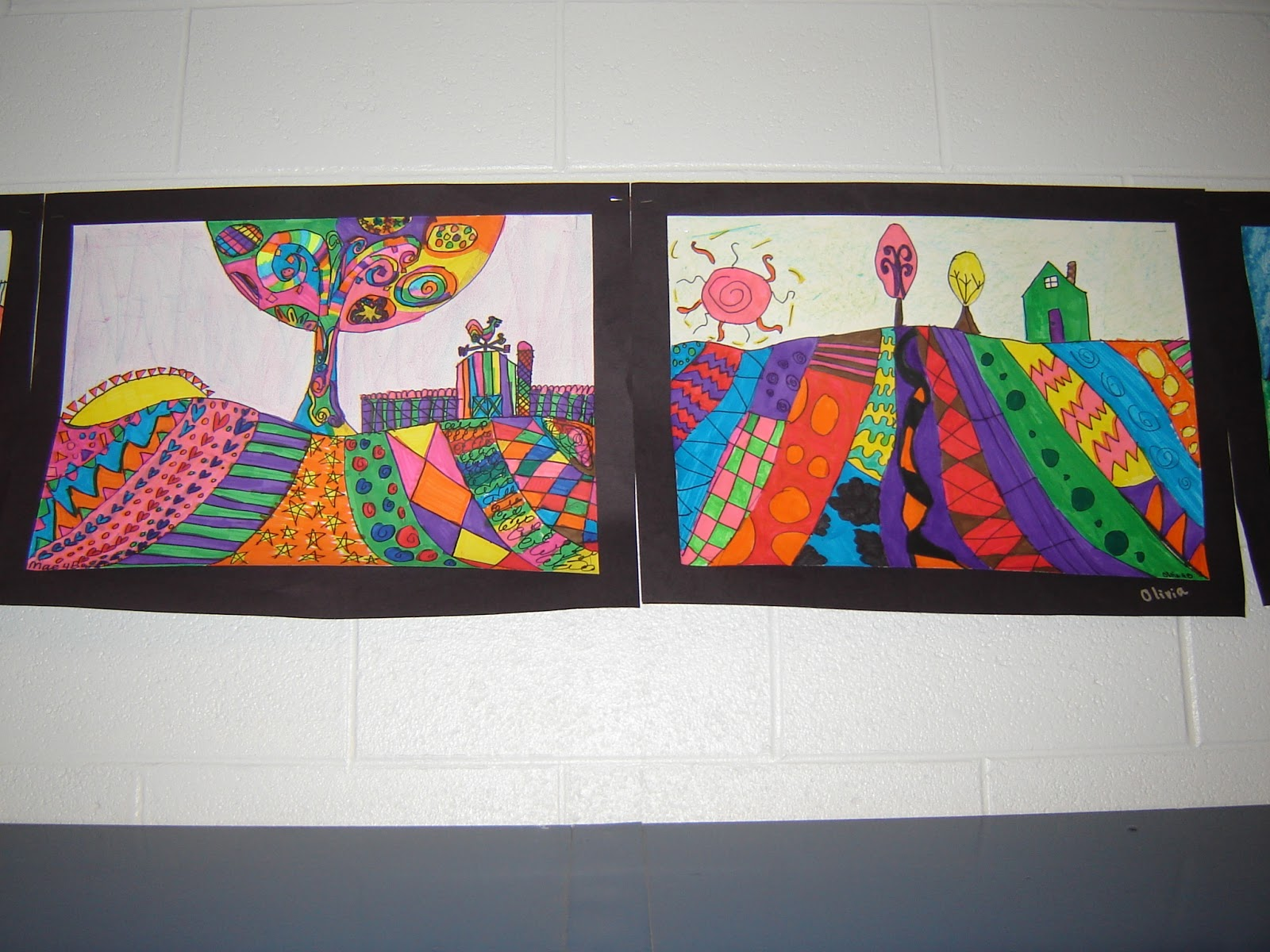 DSC05145  Th Grade Art Landscape on science clipart, crystal gems rocks, painting effects, projects easy crafts, salvador elementary, lessons flowers,