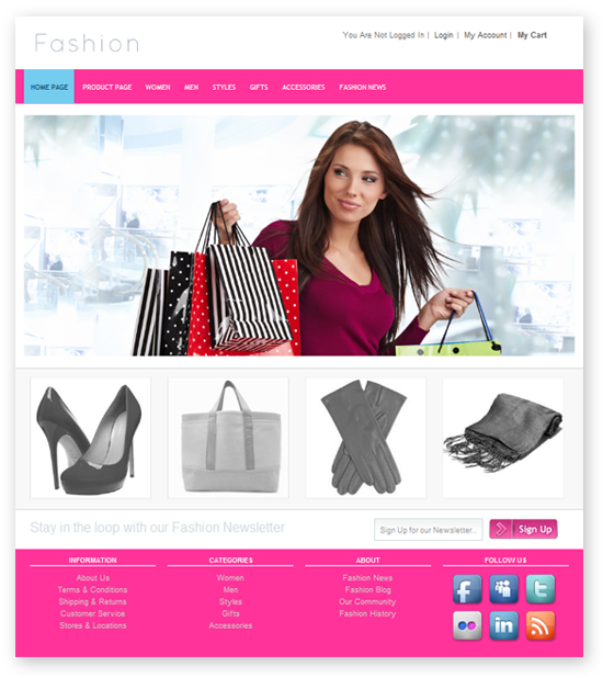 Free Top Best Fashion Store Website Templates Download