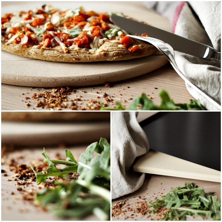 knusprige Pizza, Pizzablech und Rucola { by it's me! }