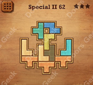 Cheats, Solutions, Walkthrough for Wood Block Puzzle Special II Level 62