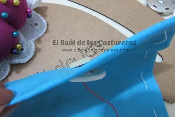 como coser un botón Baul Costureras