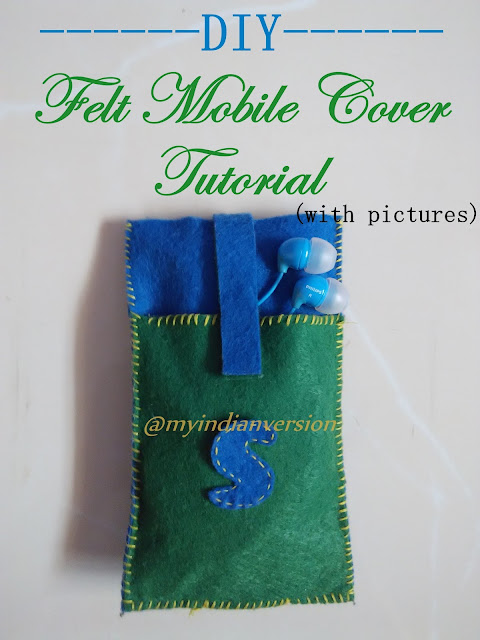DIY : Felt Mobile Cover Tutorial : Parents Day Special