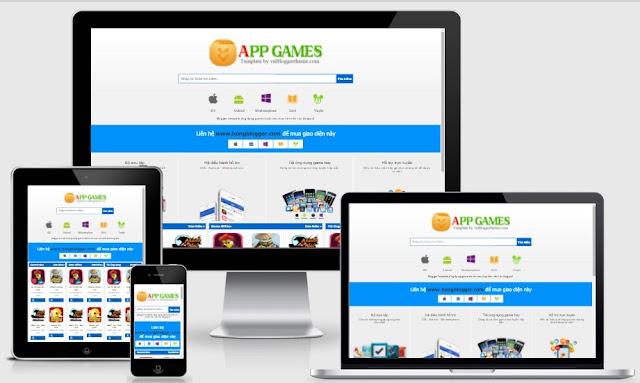 Template blogspot ứng dụng app game chuẩn seo