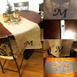 DIY Monogrammed Table Runner!