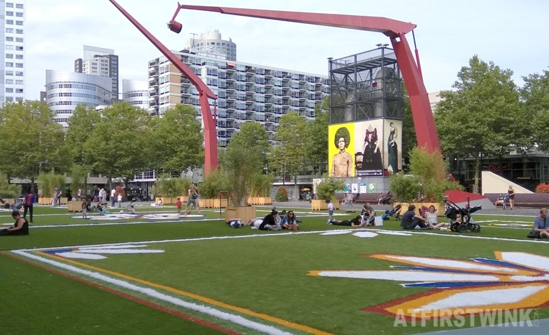 schouwburgplein stadspark pop-up city park Rotterdam Netherlands