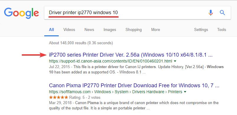 instal setting printer