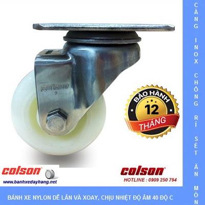 Bánh xe đẩy thủy sản càng inox 304 Colson Caster Mỹ tại Trà Vinh banhxedaycolson.com