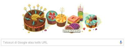 Google Doodle Ulang Tahun
