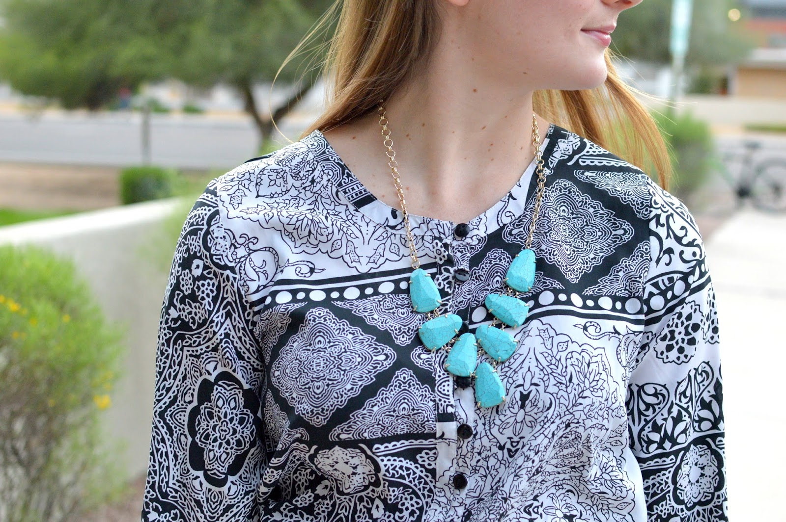 kendra scott harlow necklace in turquoise