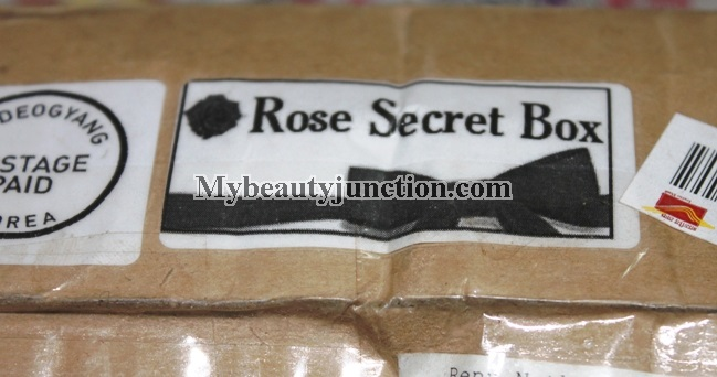 Rose Rose Shop Secret Box review, unboxing: International beauty box
