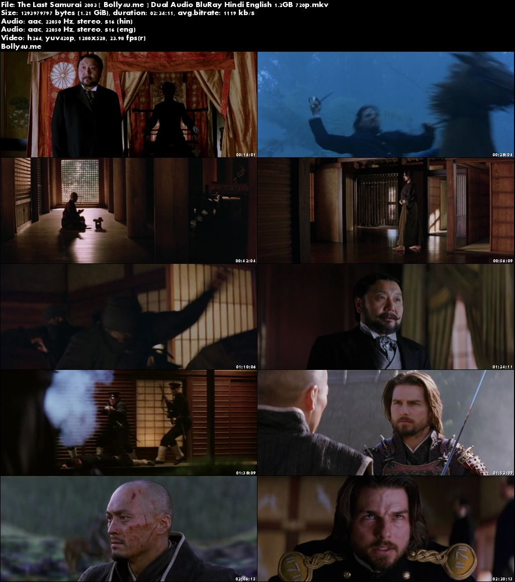 The Last Samurai 2003 BluRay 450MB Hindi Dubbed Dual Audio 480p Download
