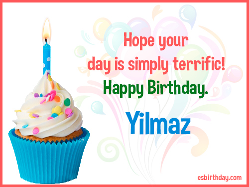 Yilmaz Happy birthday