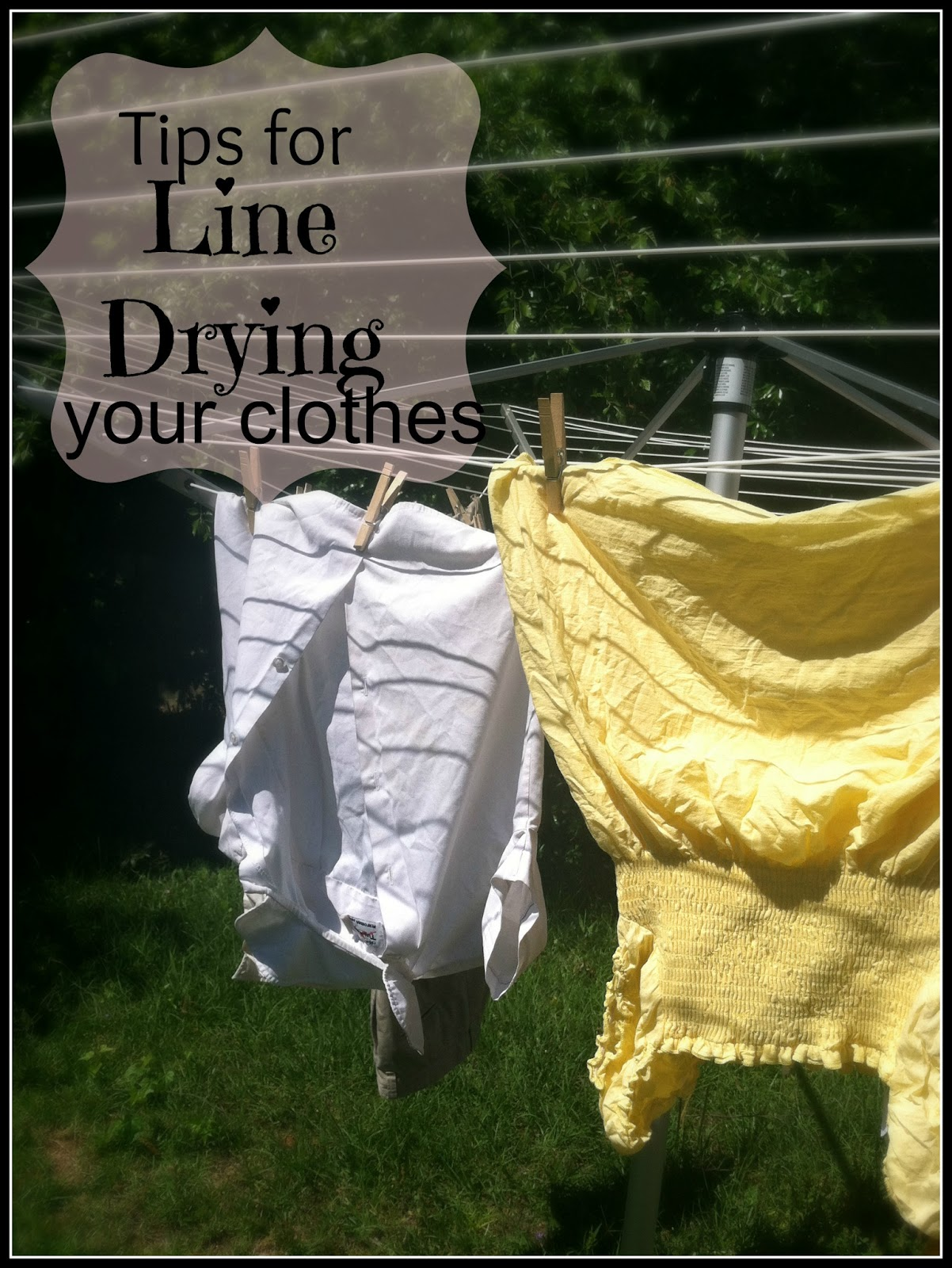 Confessions Of An Add English Teacher Tips For Line Drying Clothes