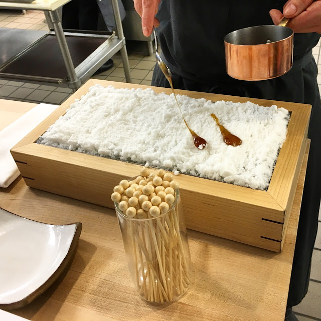 Maple Taffy on Apple Snow