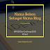 Nama Beken Sebagai Nama Blog