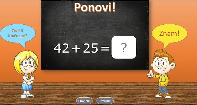 SABIRANJE I ODUZIMANJE BROJEVA DO 100 (matematika za 2. razred osnovne škole)