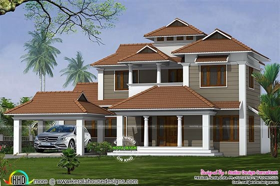 5 bedroom traditional model sloping roof home