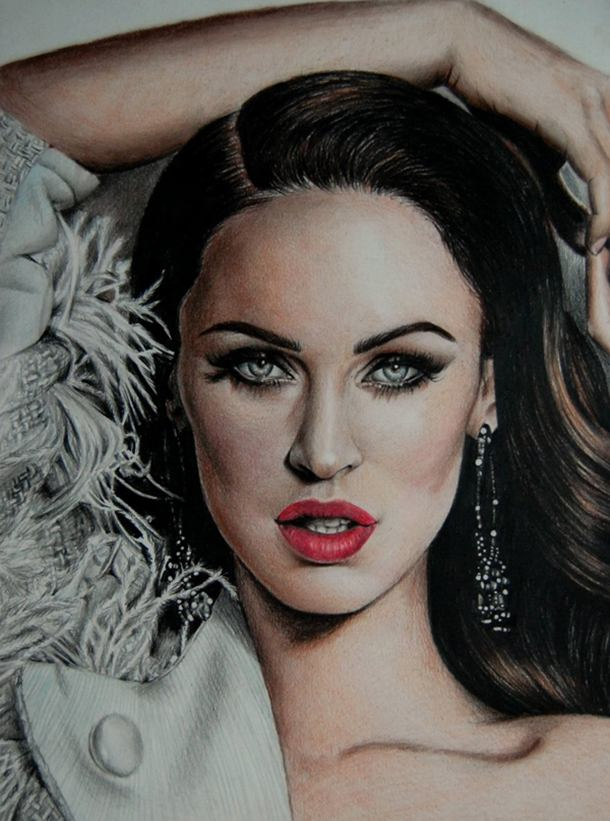 Angelina Color Pencil Drawing By Valentina Zou