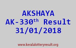 AKSHAYA Lottery AK 330 Results 31-01-2018