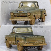 Miniatur Chevy Stepside Pick-Up 1955 Dirt (Blue-32K)