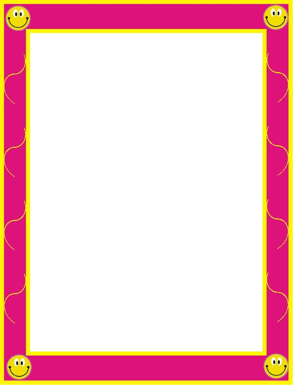 bordes bonitos para niños, bordes infantiles rosados, orillas rosadas para niños, margenes rosados infantiles