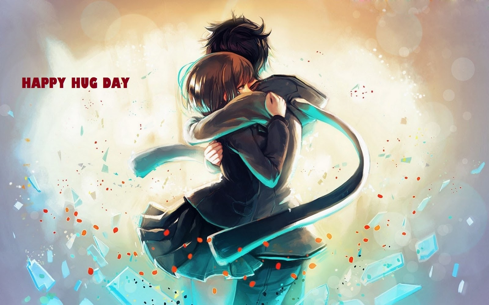 romantic hug day wallpaper